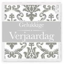 Wensetiket Verjaardag Grijs NL 500 Stuks