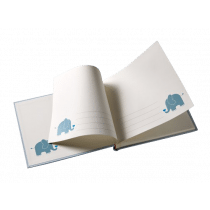 Mini Album 11,5x15,5cm Blauw Baby Animal 30 Foto's