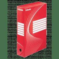 Archiefdoos A4 80mm Karton Rood/Wit