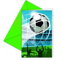 Uitnodigingen Football Fans 6 Stuks