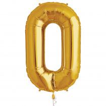 Folieballon 86cm Goud '0'