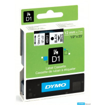 Dymo Tape Zwart Op Wit 45013 7m x 12mm