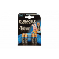 Duracell Batterijen Ultra Power AAA/LR03 4 Stuks
