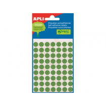 Etiketten Pochet Apli Groen 10Mm Diam (315St) 5Vellen