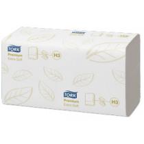 Handdoek 23x23Cm Tork Wit Premium Soft 2 Laags 3000 Stuks