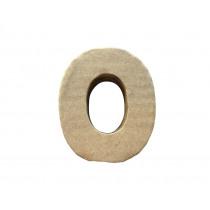 Letter O 7x8cm Papier Maché