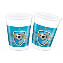 Bekers 200ml Football Fans 8 Stuks
