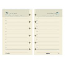 Brepols Agenda 125x80mm 6-Talig 1D/P Ivoor Brefax 21 Vulling Calendarium