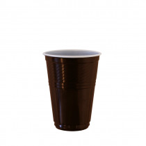 Automatenbeker 180ml Bruin/Wit Plastic 100 Stuks