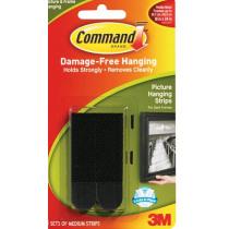 Fotolijststrips Command Zwart Medium 8/Card