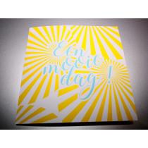 Fotokaart Met Gele Strepen 17x17cm + 5 Enveloppen (91.055) 5 Stuks