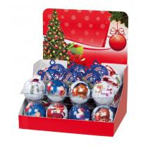 Kerstbal 36g Met Melkchocolade Munten