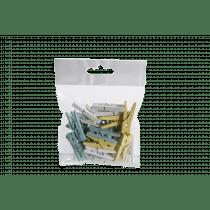 Wasknijper 3cm Wit-Geel-Turquoise
