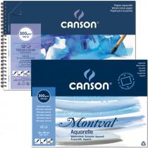 Canson Album gelijmd Montval 12 Vellen  Natuurwit 300g/m² A3 - Fijne Korrel
