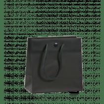 Draagtas Sluitknop Antraciet 16+8x16cm Mat