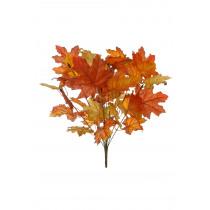 Tak Met Eikenbladeren 45cm Bruin/Oranje