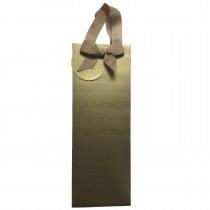 Flessenzak 13x8,5x36cm Goud Glitter Strepen