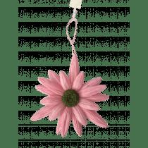 Hangdeco Bloem Lichtroze 43cm Diameter Papier