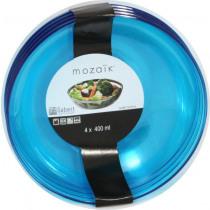 Kom Mozaïk Turquoise 400ml - 14cm  Diameter PS 4 Stuks