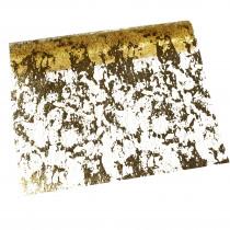 TAFELLOPER MET TEKENING GOUD 2,5m x 28cm