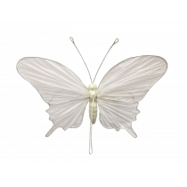 Hangdeco 31x21x5cm Wit Papier Vlinder