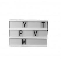 Lichtkast Met 80 Letters 15x10,5cm Wit 4xAA Batterijen Niet Inclusief