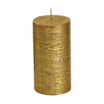 Spaas Cylinderkaars Rustiek Metallic 130cm Goud 70cm Diameter 8uur