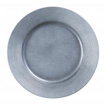 Decobord Rib Boord Grijs 33cm Diameter Metallic