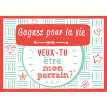 Scratchcard Lucky Veux Tu Être Mon Parrain?