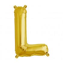 Ballon Folie 41cm Goud 'L'