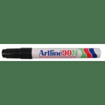 Permanentmarker Artline 90 Zwart Schuine Punt 2-5mm 12 Stuks