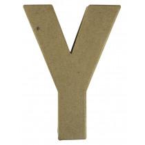 Letter Papiermache Y 10,5x3x15cm
