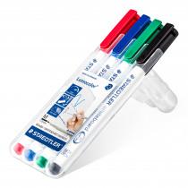 Lumocolor Whiteboard Marker 1mm Staedtler Assorti 4 Stuks
