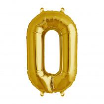 Folieballon 41cm Goud '0'