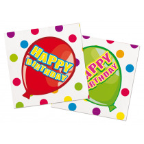 Happy Birthday Feest Servetten 16 Stuks