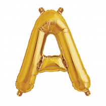 Ballon Folie 41cm Goud 'A'
