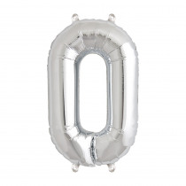 Ballon Folie 41cm Zilver '0'