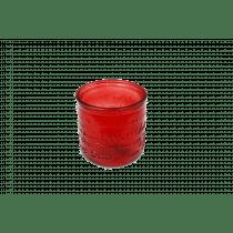 Theelichthouder Glas 9cm Rood 8,7cm Diameter