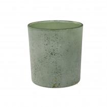 Theelichthouder Glas 8cm Groen 7,3cm Diameter