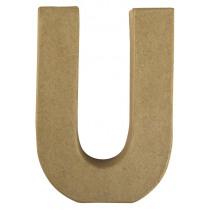 Letter Papiermache U 10,5x3x15cm