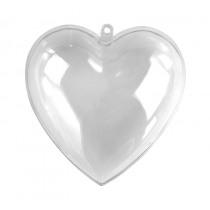 Hart Kristal 6cm Diam Plastic
