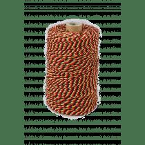 Koord Katoen 200g Tricolore Zwart-Rood-Geel +-140m/Rol