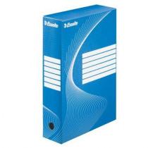 Archiefdoos A4 80mm Karton Blauw/Wit