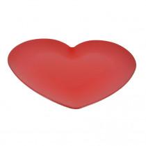 Assiette 33x33,5cm Rouge Coeur