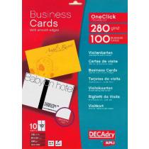 Visitekaarten 85X54Mm Apli Wit 280G/M² Inkjet 100Stuks