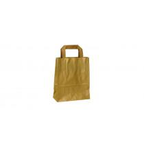 Draagtas Papier Kraft Bruin 70G/M² Plat Handvat 18+8x22cm