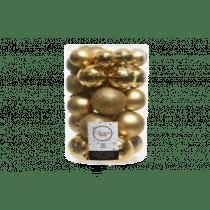 Kerstbal Lichtgoud Plastiek 30 Stuks Assortiment