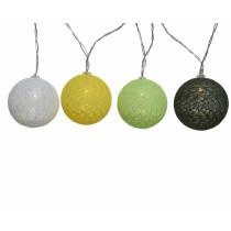 Slinger 10 Led Lamp Bal (Exclusief Batterij) 180cm Olijfgroen,Lichtgroen,Geel,Wit