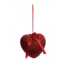 Coeur 14cm Rouge A Ruban