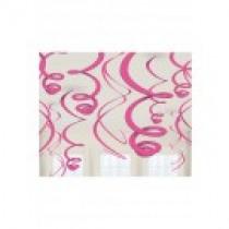 Deco Swirl 55cm Roze 12 Stuks